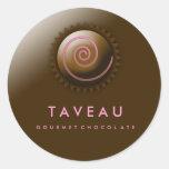 311-Upscale Gourmet Chocolate Classic Round Sticker