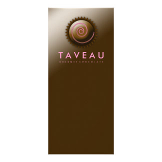 311 Upscale Gourmet Chocolate Rack Card Design