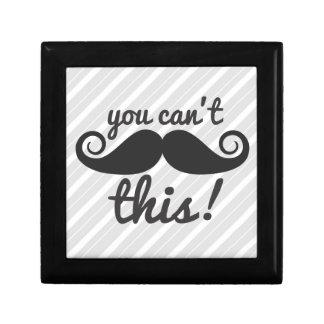 311 usted no puede manejar este bigote joyero cuadrado pequeño