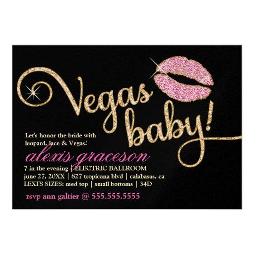 311 Vegas Baby Glitzy Kiss Metallic Card