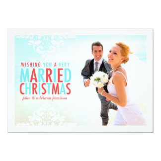 311 Very Married Christmas Red Holiday Photo Card