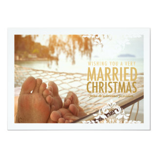 311 Very Married Christmas Tan Holiday Photo Card