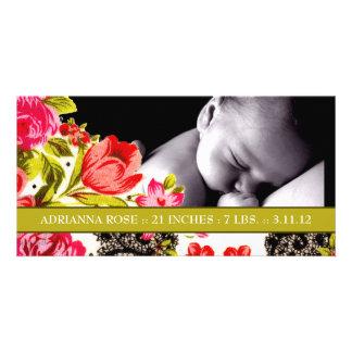 311-VIBRANT GARDEN BABY ANNOUNCEMENT