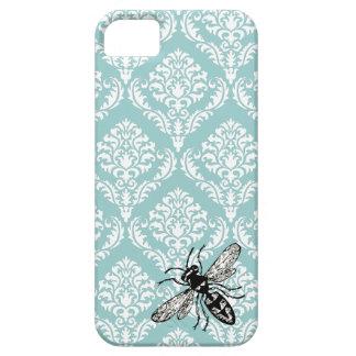 311 Vintage Blue Damask Bee Hornet iPhone Cover