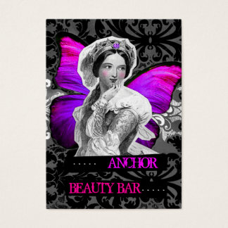 311 Vintage Butterfly Beauty Anchor Purple Pink Business Card