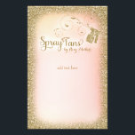 """311 Vintage Glam Spray Tan Flyers<br><div class=""""desc"""">Design by Jill McAmis &#169; 2015 This faux sparkle design is perfect for that glamorous girly touch to any spray tan party</div>"""