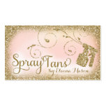 311 Vintage Glam Spray Tan Gold Glitter Pink Business Card Templates