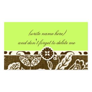311 VINTAGE HAWAIIAN LIME GREEN NAME CARD BUSINESS CARD