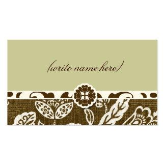 311 VINTAGE HAWAIIAN NAME CARD BUSINESS CARD TEMPLATES