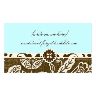 311 VINTAGE HAWAIIAN SKY BLUE NAME CARD