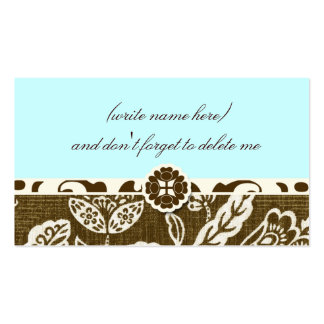311 VINTAGE HAWAIIAN SKY BLUE NAME CARD BUSINESS CARD