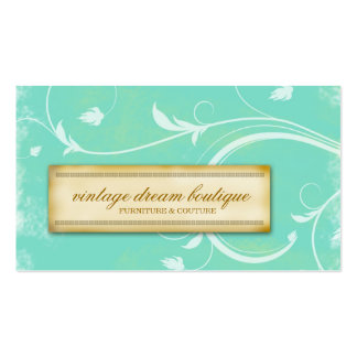 311-Vintage Mint Dream Business Card Template