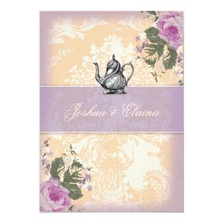 311 Vintage Tea Party Bridal Bingo 5x7 Paper Invitation Card