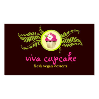 311 Viva Cupcake Chocolate Brown Double-Sided Standard Business Cards (Pack Of 100)
