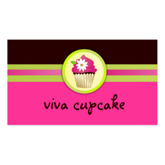 311 Viva Cupcake Chocolate Brown Pink Double-Sided Standard Business Cards (Pack Of 100)