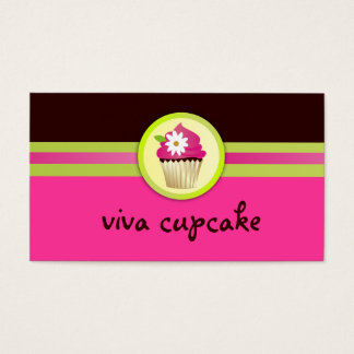 311 Viva Cupcake Chocolate Brown Pink Business Card