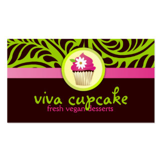 311 Viva Cupcake Green Double-Sided Standard Business Cards (Pack Of 100)