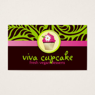 311 Viva Cupcake Green Business Card
