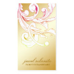311-Vivid Foliage Flare Golden Business Card Templates