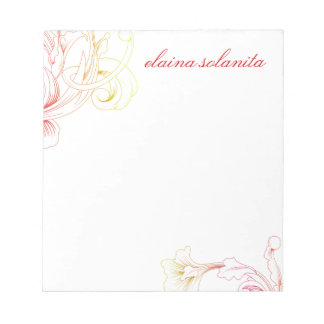311 Vivid Foliage Flare White Note Pad