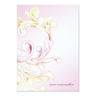 311-Vivid Foliage Pink Flare Card
