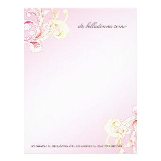 311-Vivid Foliage Pink Flare Custom Letterhead