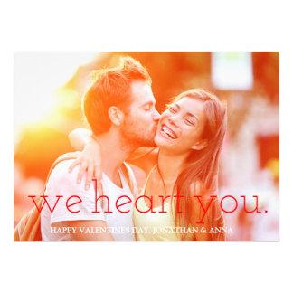 311 We Heart You Photo Valentine Card
