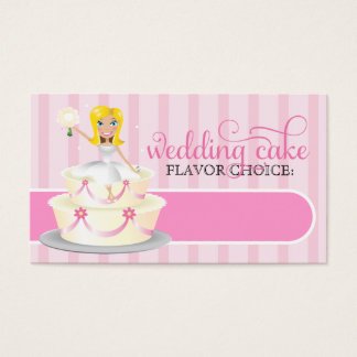 311 Wedding Cake Bridal Info Card