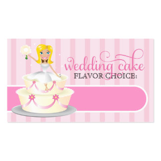 311 Wedding Cake Bridal Info Card Business Card