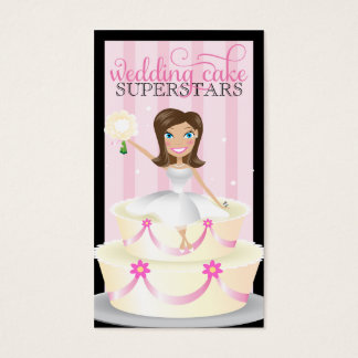 311 Wedding Cake Superstars Brunette Business Card
