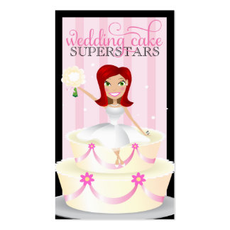 311 Wedding Cake Superstars Red Head Business Card