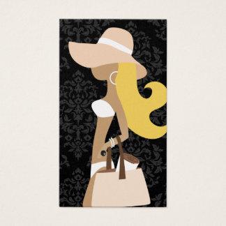 311 White Bikini Fashionista Blonde Hat Business Card