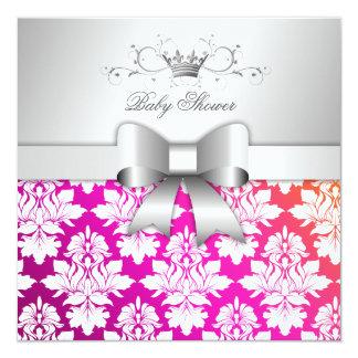 311 White Blackberry Damask Sunset| Baby Shower Card