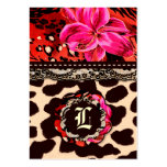 311 Wild Lily Leopard & Lace Pink Large Business Cards (Pack Of 100)