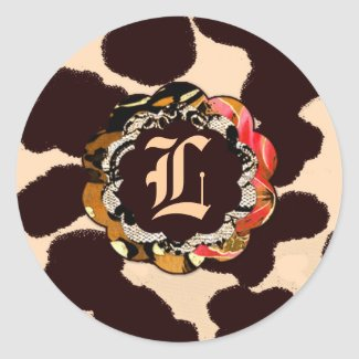 311-Wild Lily Orange Leopard sticker