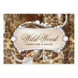311 Wild Wood Leopard Print Chandelier Business Card