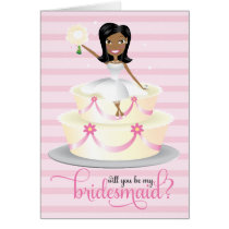 311 Will You Be My Bridesmaid African American Card