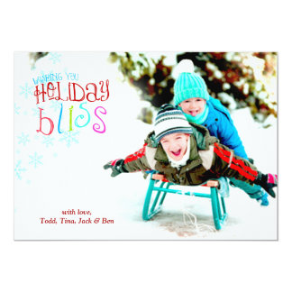 311 Wishing You Holiday Bliss Colorful 5x7 Paper Invitation Card