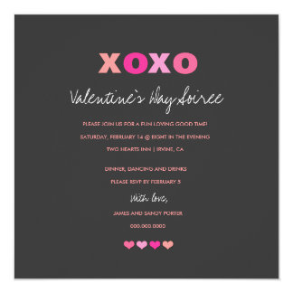 311 XOXO Gray Hearts in a Row Card