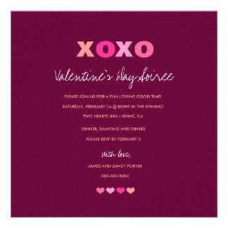 311-XOXO Hearts in a Row Purple Invite