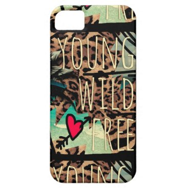 Beach Themed 311 Young Wild Free Leopard Tropical Case