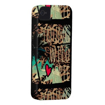 Beach Themed 311 Young Wild Free Leopard Tropical Phone Case
