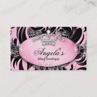 311 Zebra Business Card Jewelry Crown Pink