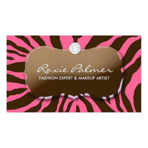 311-Zebra Teaze | Pink Delish Business Card Template