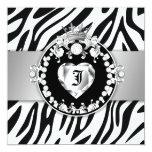 311 Zebra Tique Kiss Queen of Hearts Sweet16 Card