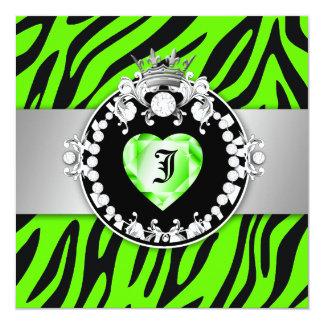 311 Zebra Tique Kiss Queen of Hearts Sweet 16 Card