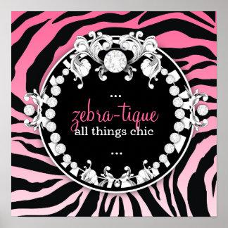 311 Zebra-Tique Melon Posters