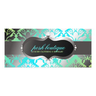 311 Zeopard Sign & Damask Shimmer Paradise Lime Rack Card