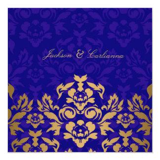 311Golden Flame Square Royal Blue Gold Card