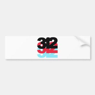 312 Area Code Bumper Sticker